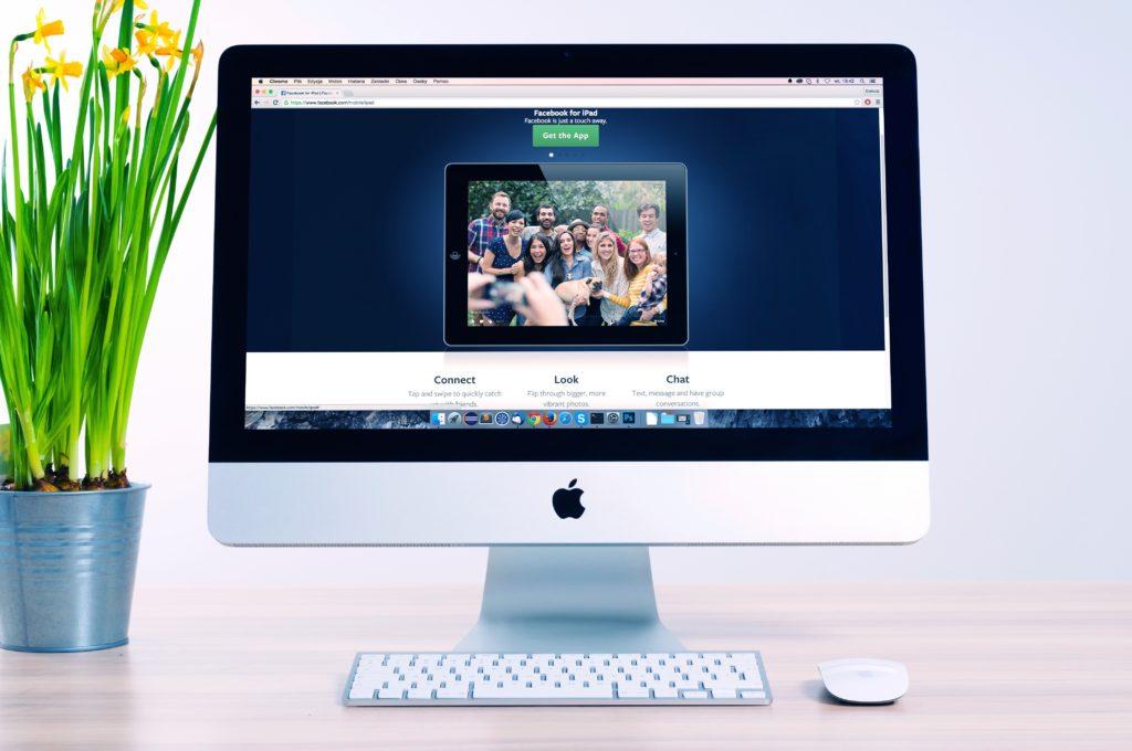 Desktop image, website design and development, logo design, austin web designer